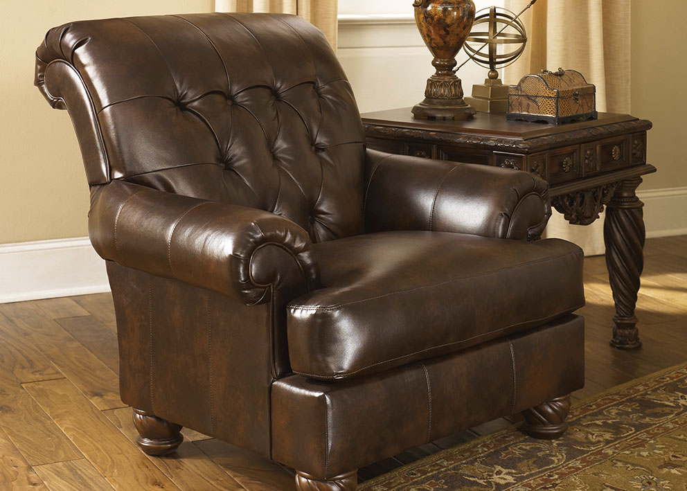 Accent Chairs With Leather Furniture.Coronet Accent Chair