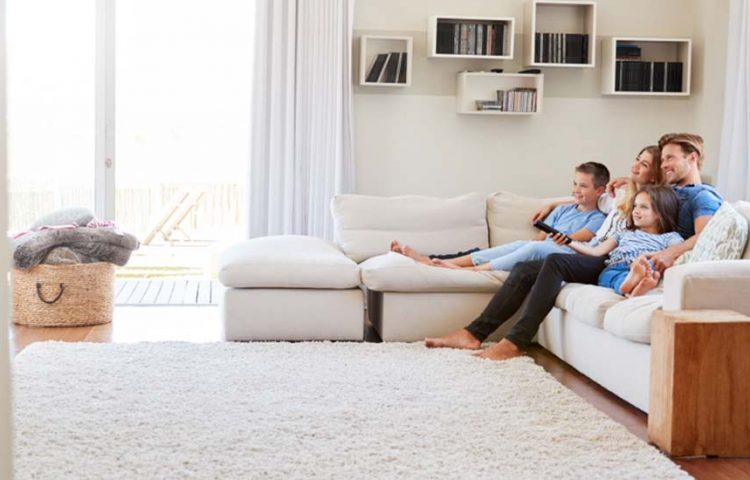 Corner couch in living room
